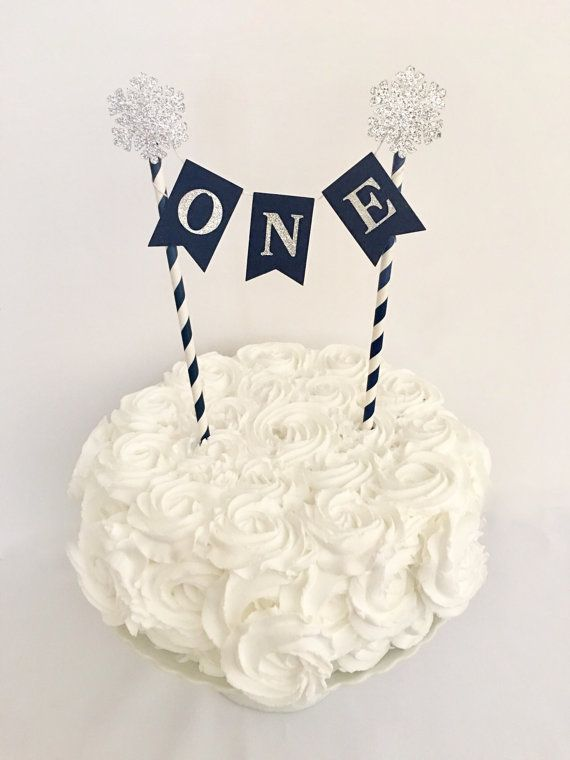 Winter Onederland First Birthday 1st Birthday Cake Bunting Topper
