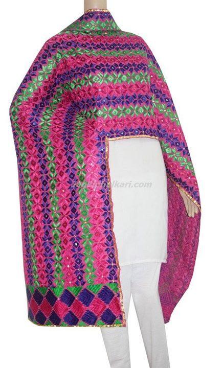 Phulkari Cotton Bagh Code:- http://bit.ly/1ThbZTG