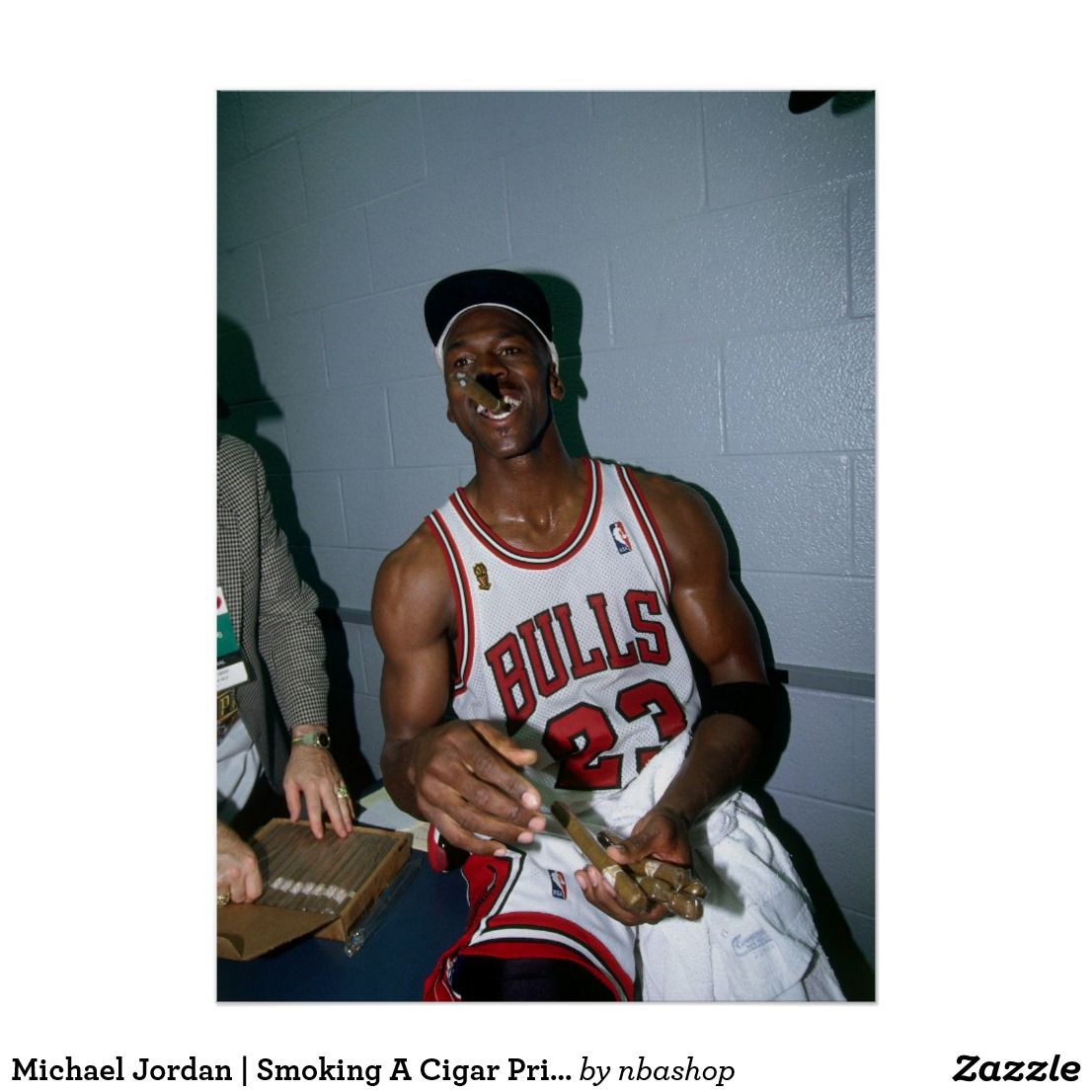 new arrival 38469 13da3 Michael Jordan   Smoking A Cigar Print
