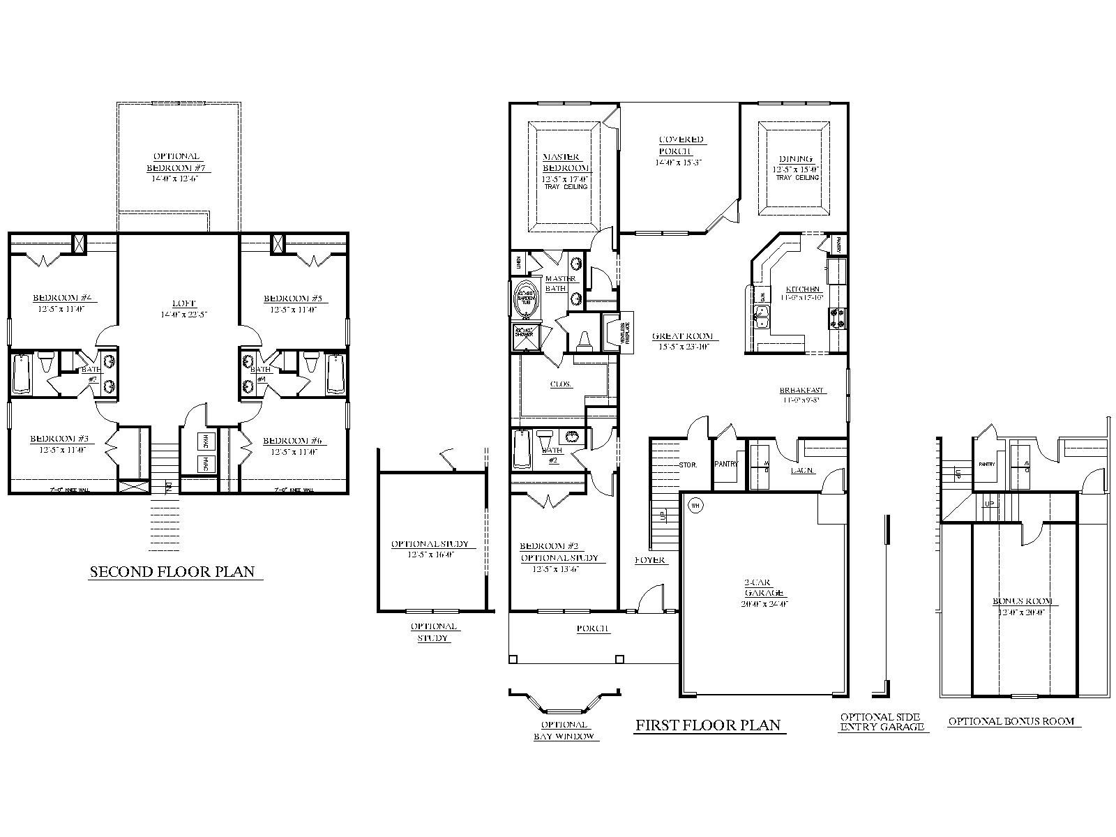 Bonus room over garage ideas for House plans with bonus room
