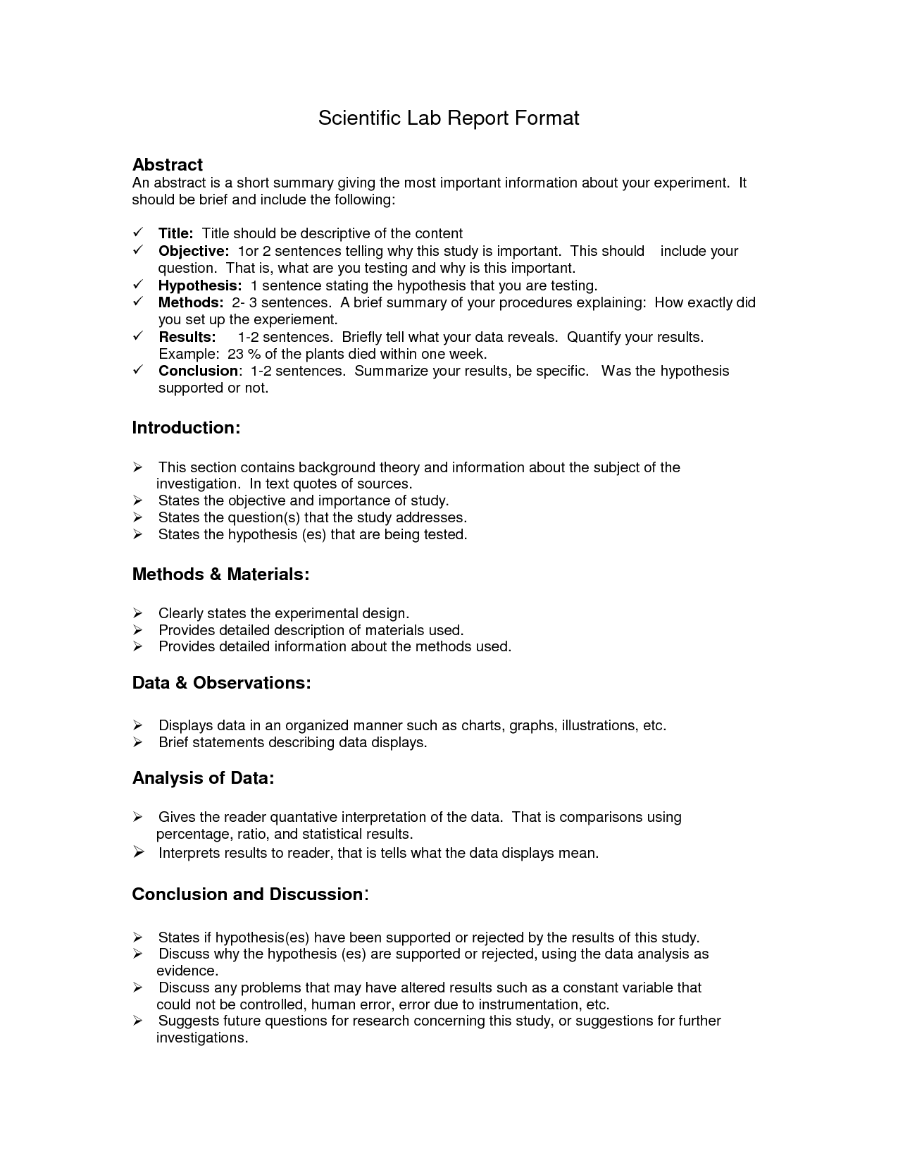Lab Report Format Doc | Environmental Science Lessons | Pinterest ...