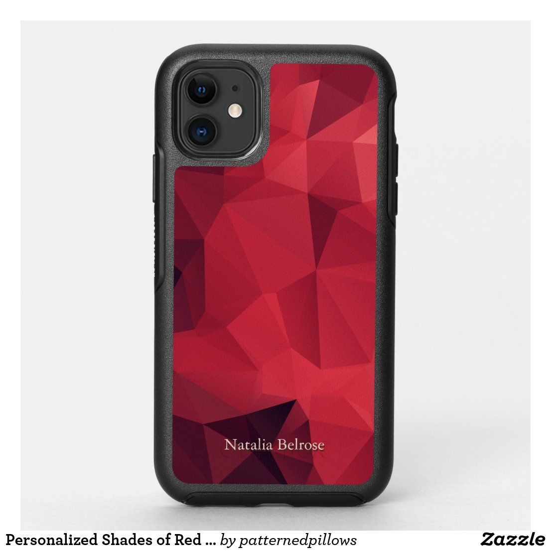 Personalisierte Shades of Red Geometric OtterBox iPhone Hülle | Zazzle.com   – Phone Cases
