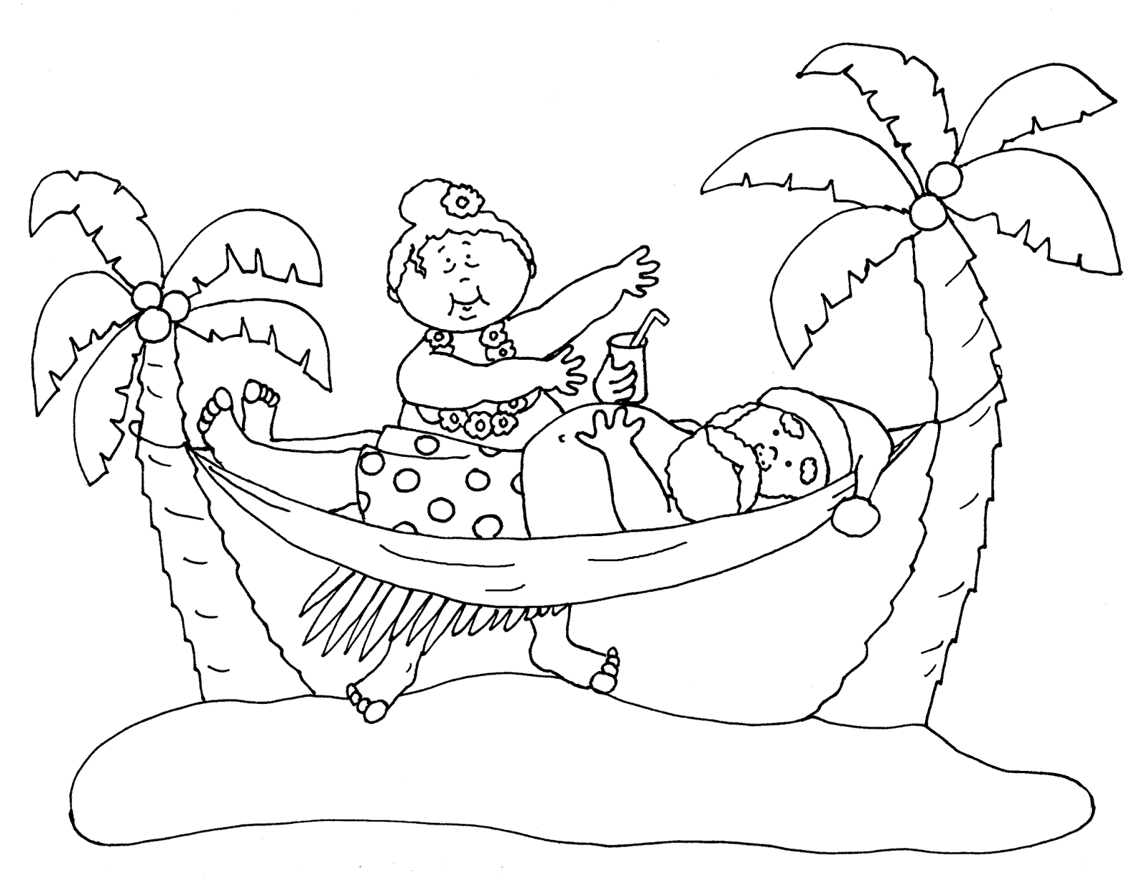 Free Dearie Dolls Digi Stamps Santa S Hawaiian Vacation Christmas Coloring Pages Christmas Stamps Digi Stamps