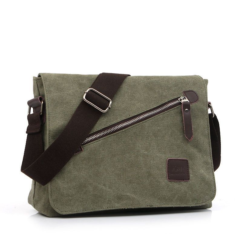Fashion Men Canvas Laptop Bags Handbag Shoulder School Retro Bag Messenger