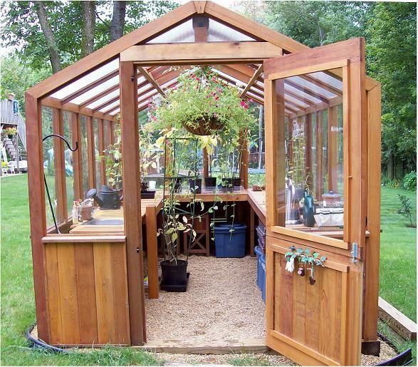 Backyard Greenhouse, Wooden