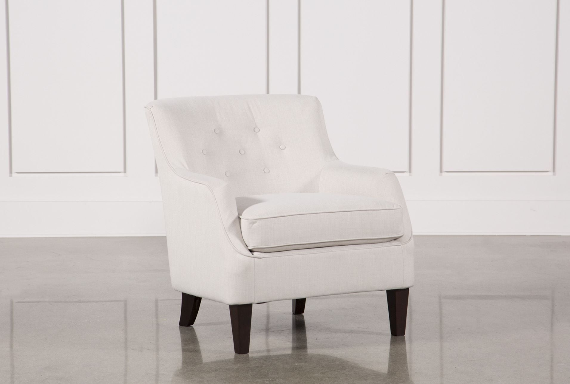 Sofia Oyster Accent Chair Signature Accent Chairs White
