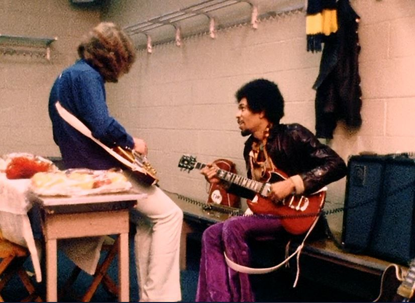 Jimi Hendrix Playing Mick Taylor 39 S Sg Backstage At Madison Square Garden Jimi Pinterest