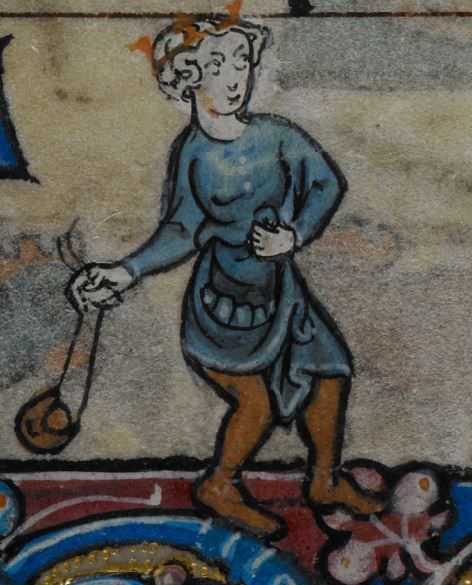 Detail from medieval manuscript, British Library Stowe MS 17 'The Maastricht Hours', f72r