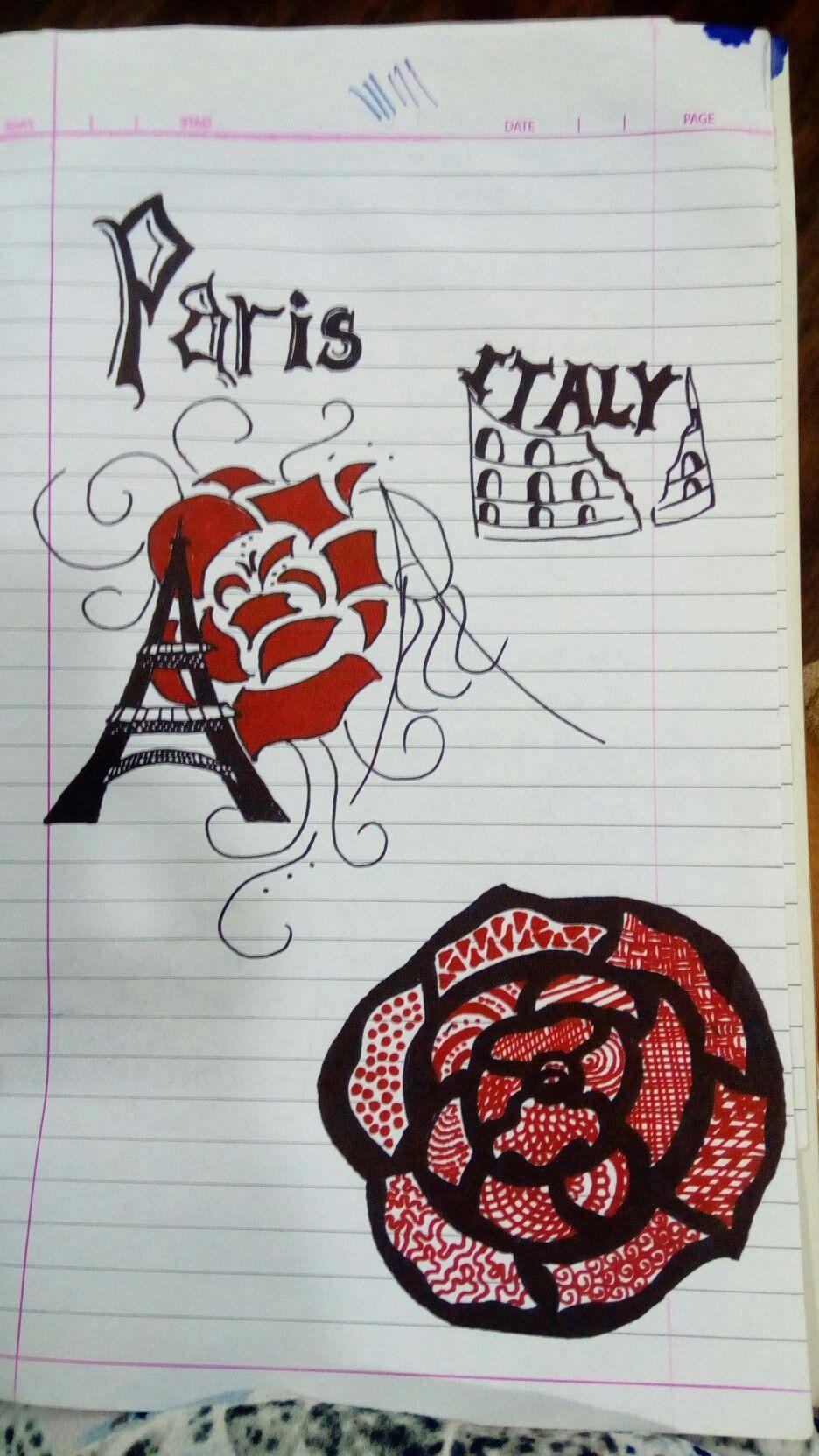 Random Art Sketch Pens Tanvi Sachdev Easy Drawing Ideas