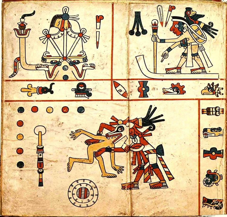 The Aztec Codex Fejrvry Mayer Art Iconography Pinterest