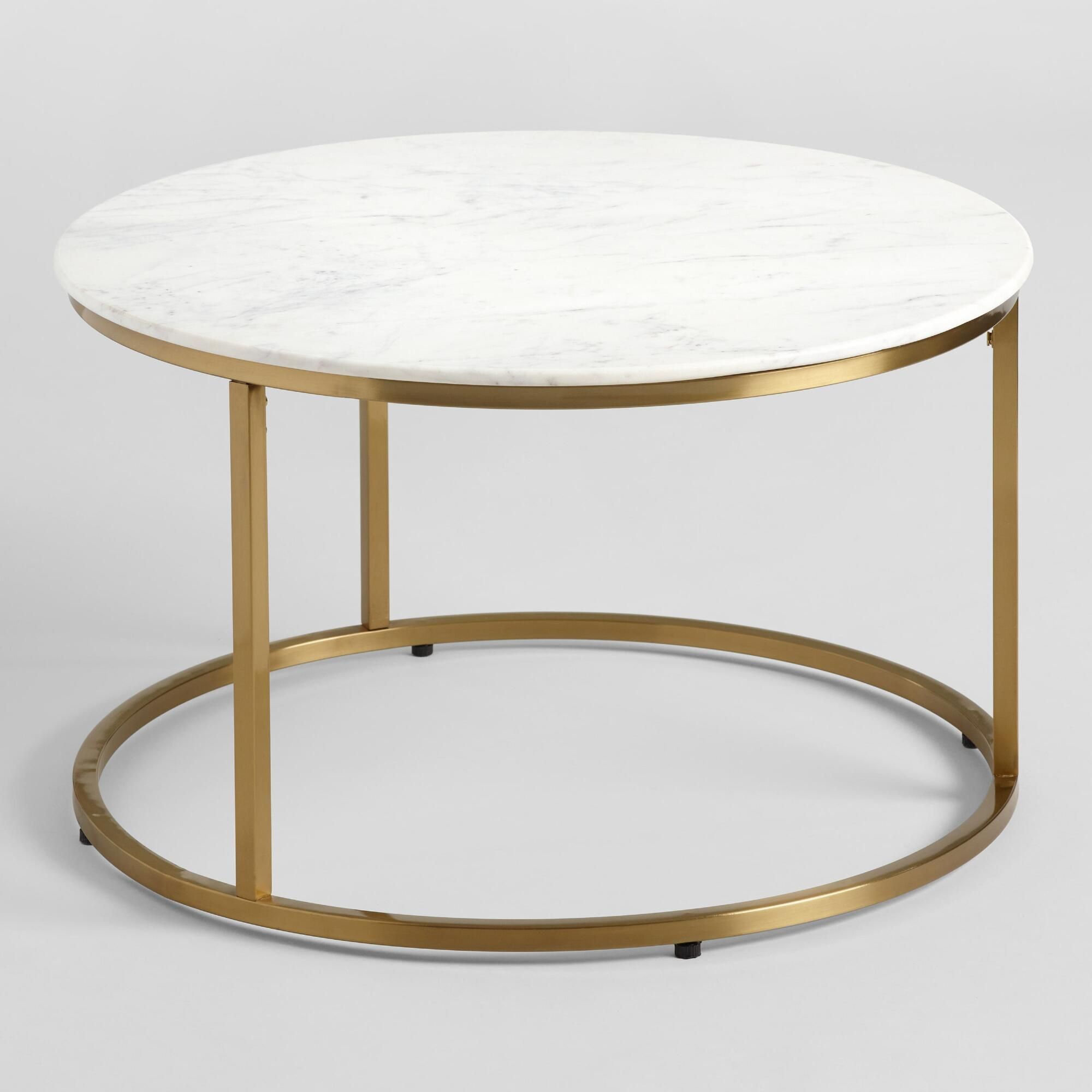 Round White Marble Milan Coffee Table By World Market Coffee Table Gold Coffee Table Marble Round Coffee Table [ 2000 x 2000 Pixel ]