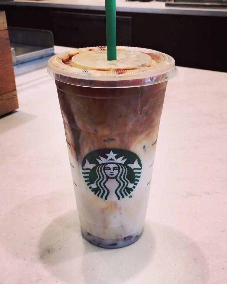 Starbcucks iced coconut milk mocha macchiato Starbucks