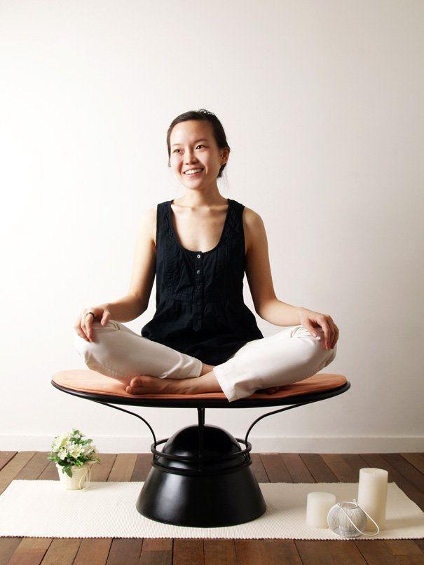 Meditation Everyday Yoga Chair By Haeyoen Kim Yanko Design Meditation Chair Meditation Stool Meditation Rooms