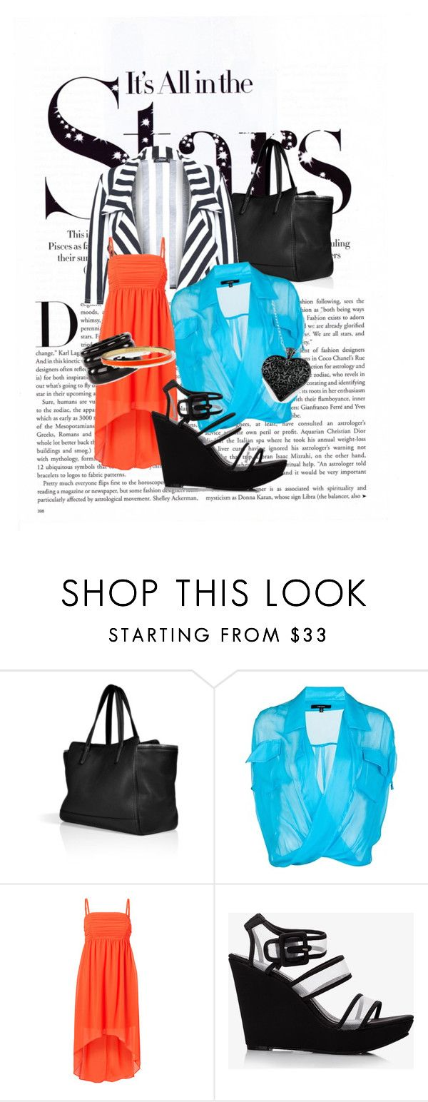 """""""Brighten Bold"""" by raisaayu ❤ liked on Polyvore featuring Karl Lagerfeld, Salvatore Ferragamo, Funktional, Vero Moda, Forever 21, See by Chloé and Kate Spade"""