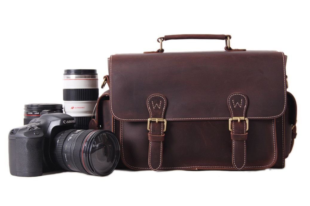 Vintage Genuine Leather DSLR Camera Bag, SLR Camera Pouch, Leather Camera Purse 6919 #camerapurse