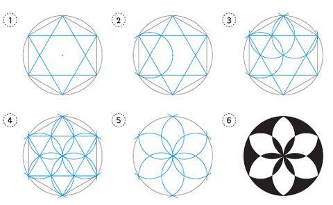 mathekunst mit zirkel lineal pdf malen und zeichnen geometrisches zeichnen mandalas. Black Bedroom Furniture Sets. Home Design Ideas