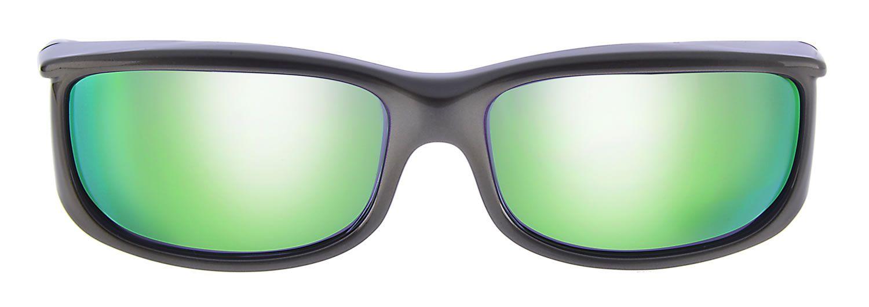 843cafcc91c0 Front view of the Euroka™ Gun Metal Green Polycarbonate Mirror Lens by Jonathan  Paul Eyewear™