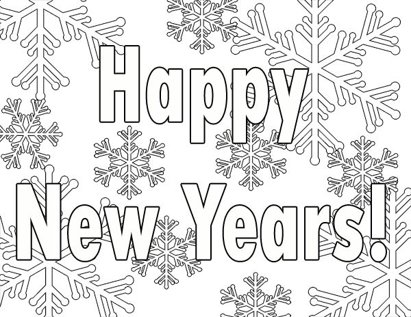 Free New Years Coloring Pages Printable Free Printables Coloring Pages For S Coloring New Year Coloring Pages New Year S Eve Colors Happy New Year Signs