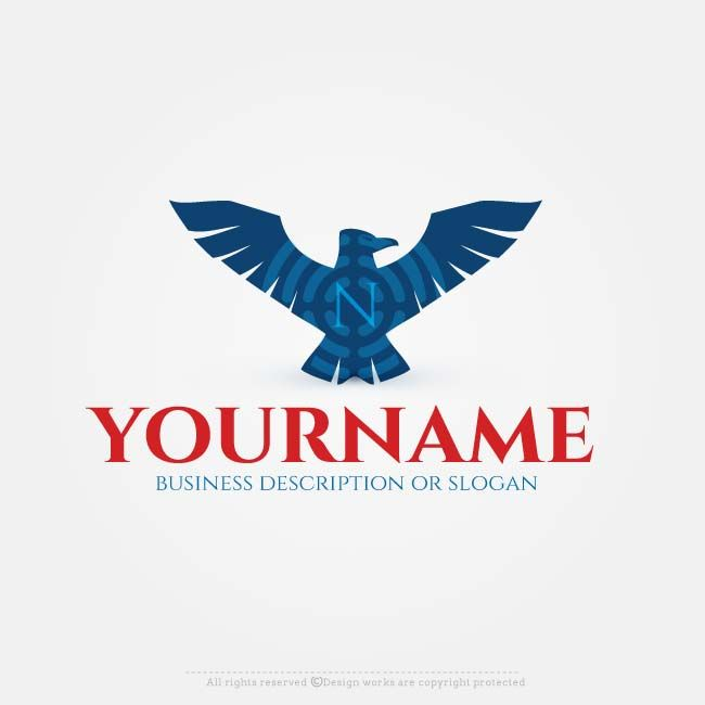 Create logo online with 100s of eagle logo design templates logo create eagle logo designs without obligations easily do it yourself use the best free logo maker to make amazing vector eagle logo design solutioingenieria Images