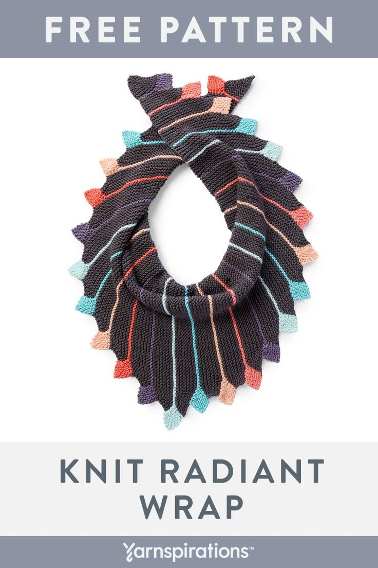 Make A Radiant Wrap With This Free Knitting Pattern! Use