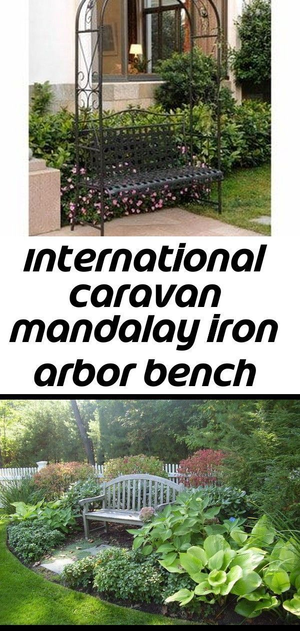 International caravan mandalay iron arbor bench country benchespark benchgardarbor