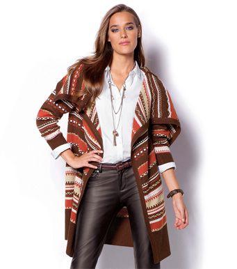 2576fa5a683 Chaqueta mujer manga larga tricot étnica Novedades 46 Venca | Trícot ...