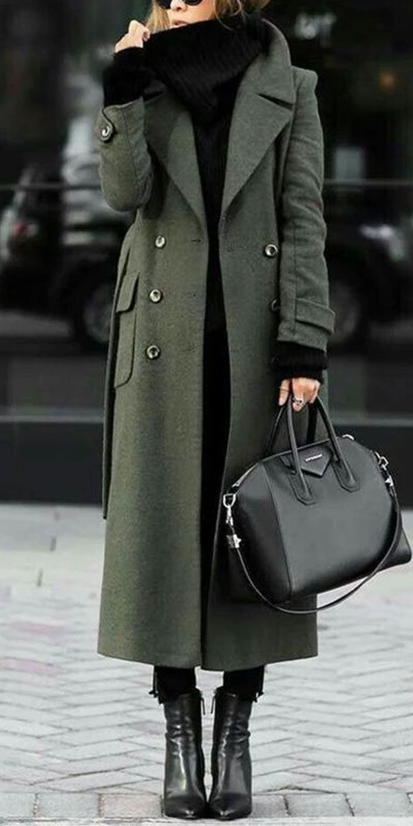 Warm Long Coat #winterfashion