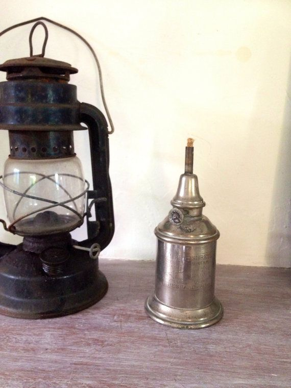 Patented French Minor Safety Lamp Lamp Lampe Exterieur Surete