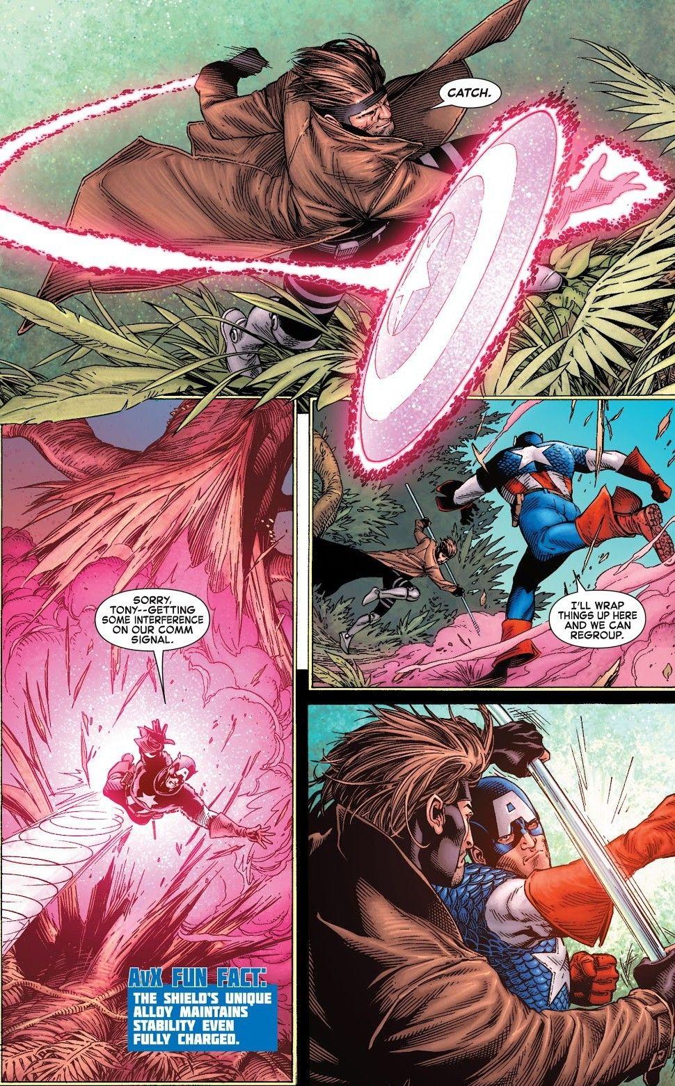 Gambit Vs Captain America Avx Vs 2 Gambit Marvel Comics Marvel Captain America