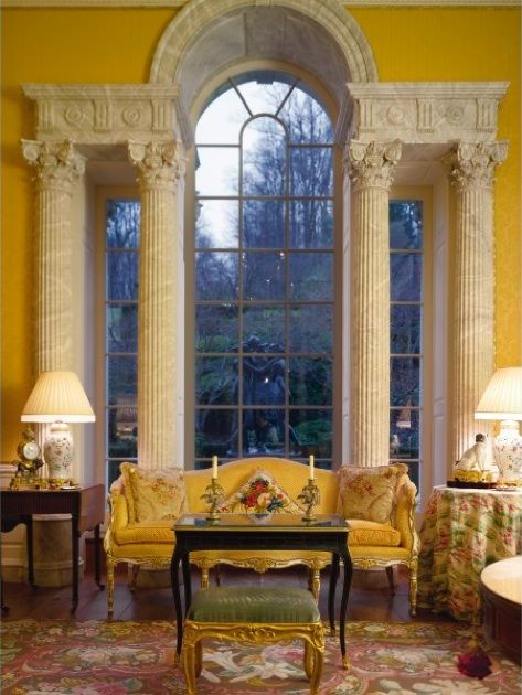Kluge estate in virginia designed in the 1980 39 s by david for 18th century window treatments