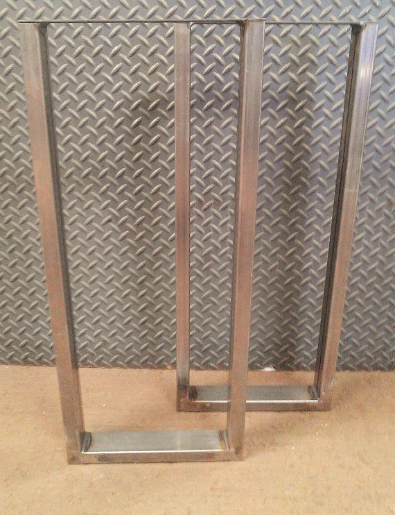 Metal Table Legs Set of 2 by SteelImpression on Etsy, $110.00