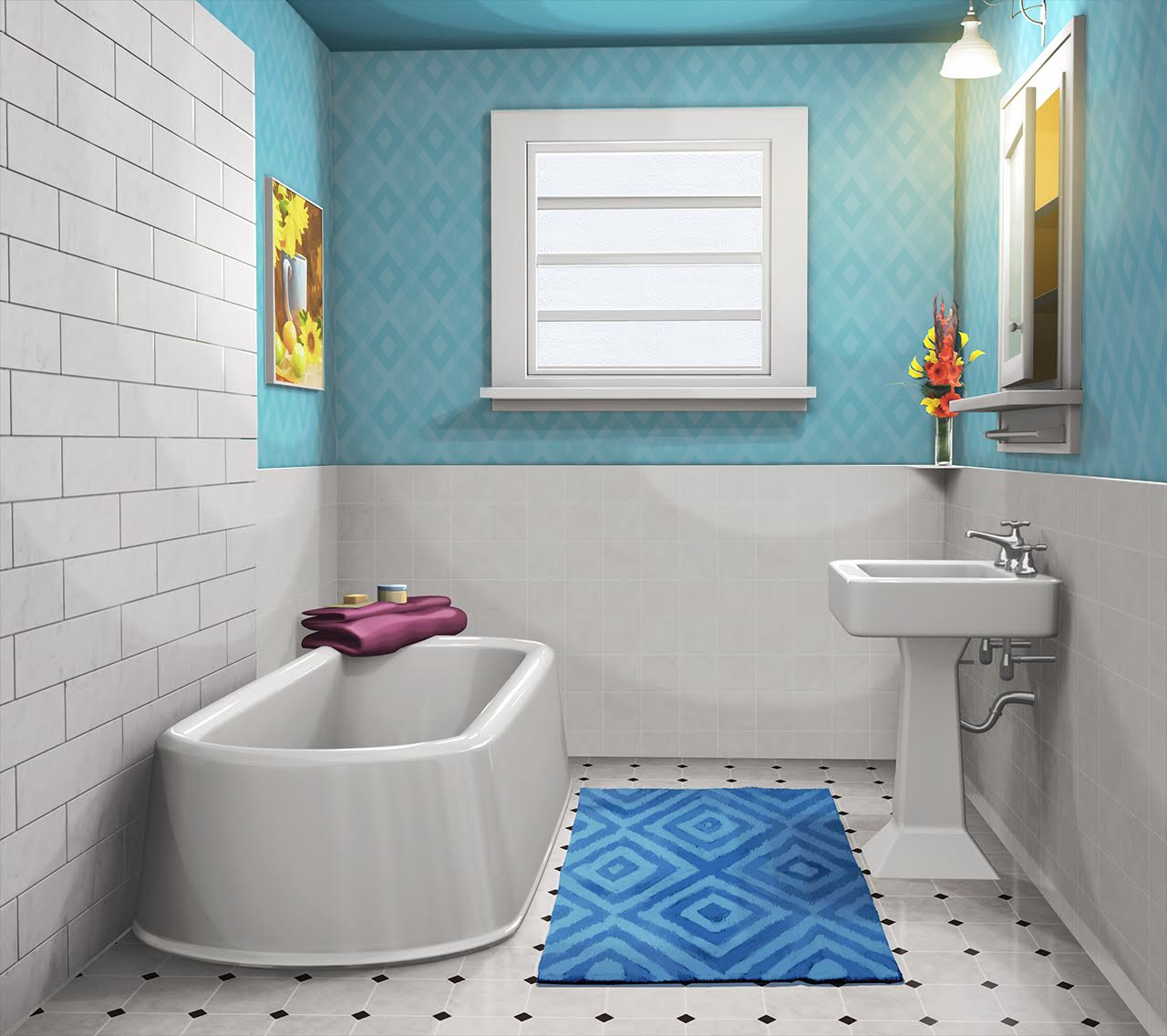 Int Residential Bathroom Sky Blue Day In 2019