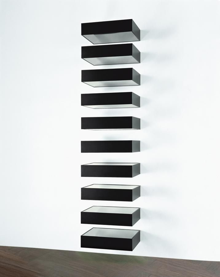 Donald judd photography pinterest donald o 39 connor for Donald judd stack 1972