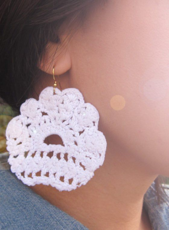 Diy Lace Earrings, Diy Lace