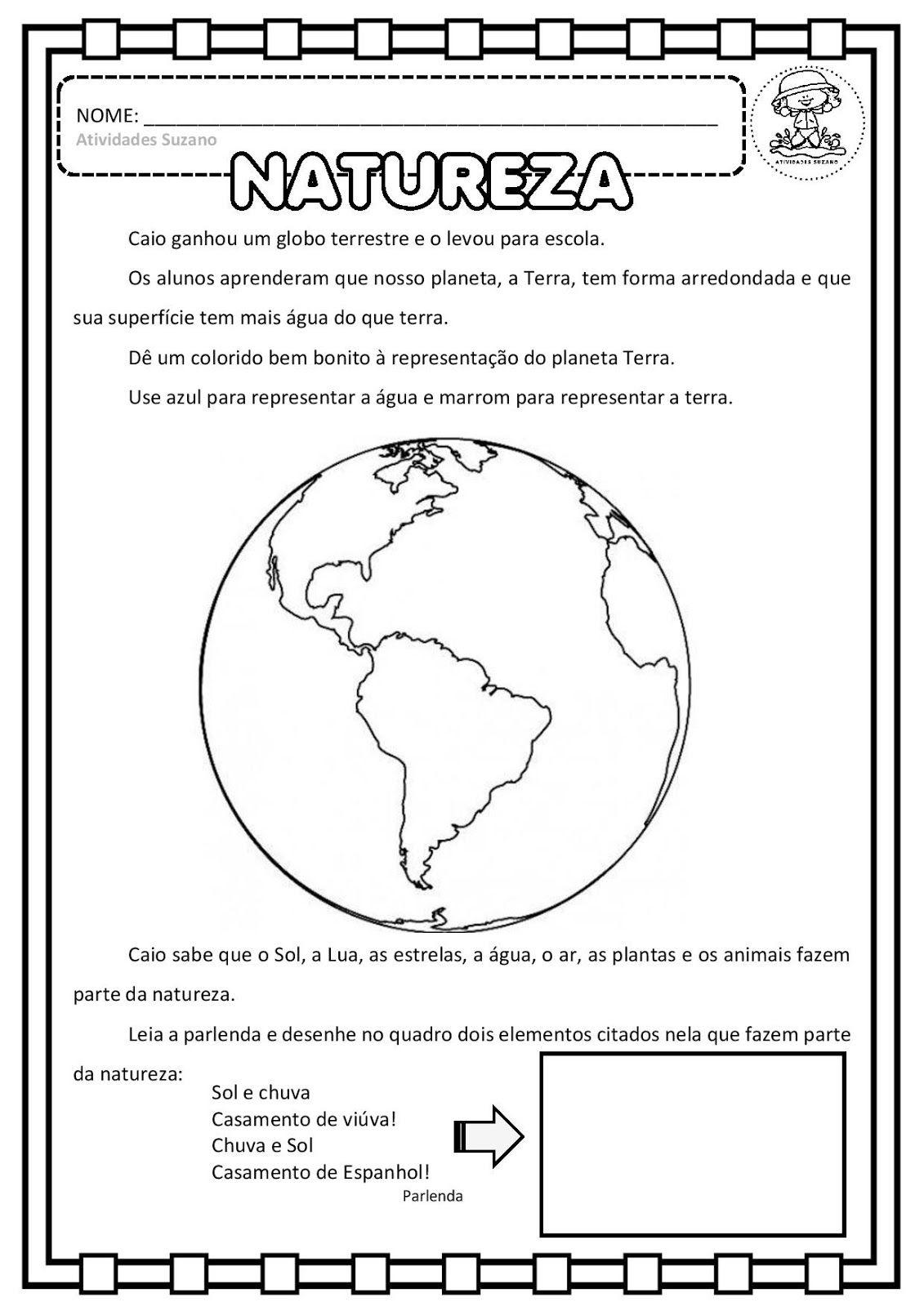 Ciencias Globo Terrestre Natureza Seres Vivos Em Pdf Com