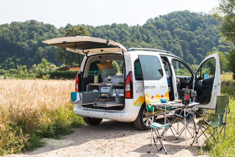 Nest minicampervan keeps your footprint small and path