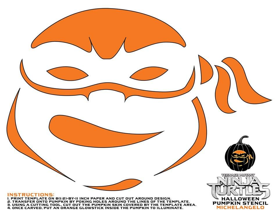 ninja pumpkin template  Teenage Mutant Ninja Turtles Pumpkin Stencils For Halloween ...