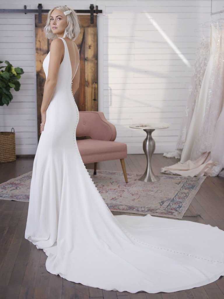 Fernanda By Maggie Sottero Wedding Dresses And Accessories Plain Wedding Dress Fit And Flare Wedding Dress Minimalist Wedding Dresses [ 1024 x 768 Pixel ]