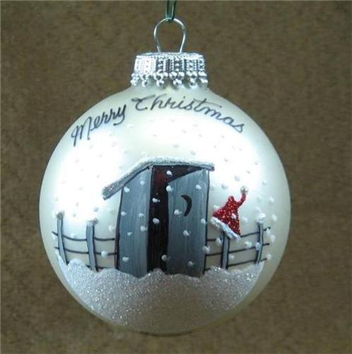 Texas Outhouse Christmas tree Ornament  Texas Christmas