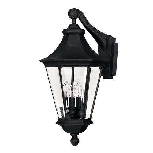 Hinkley lighting height 3 light lantern outdoor wall sconce from th black outdoor lighting wall sconces outdoor wall sconces
