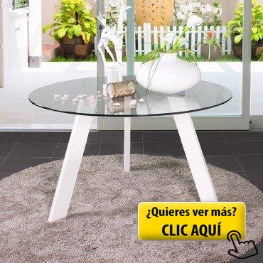 Mesa de comedor redonda de cristal TRIPODE con... #mesa #redonda ...