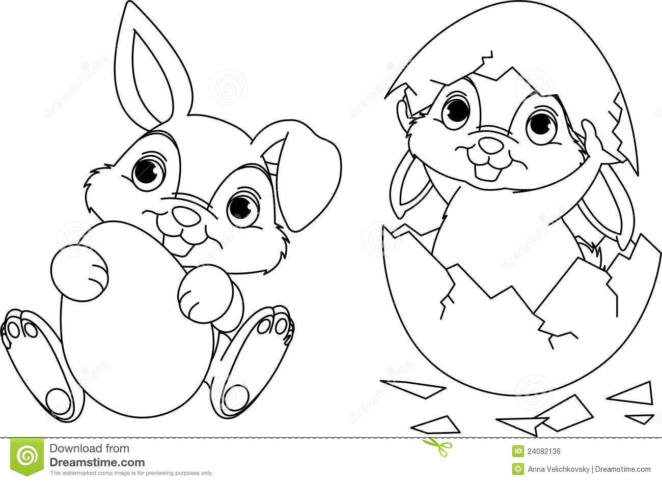 Easter Chick Coloring Pages Bunny Page 24082136jpg 14 Free