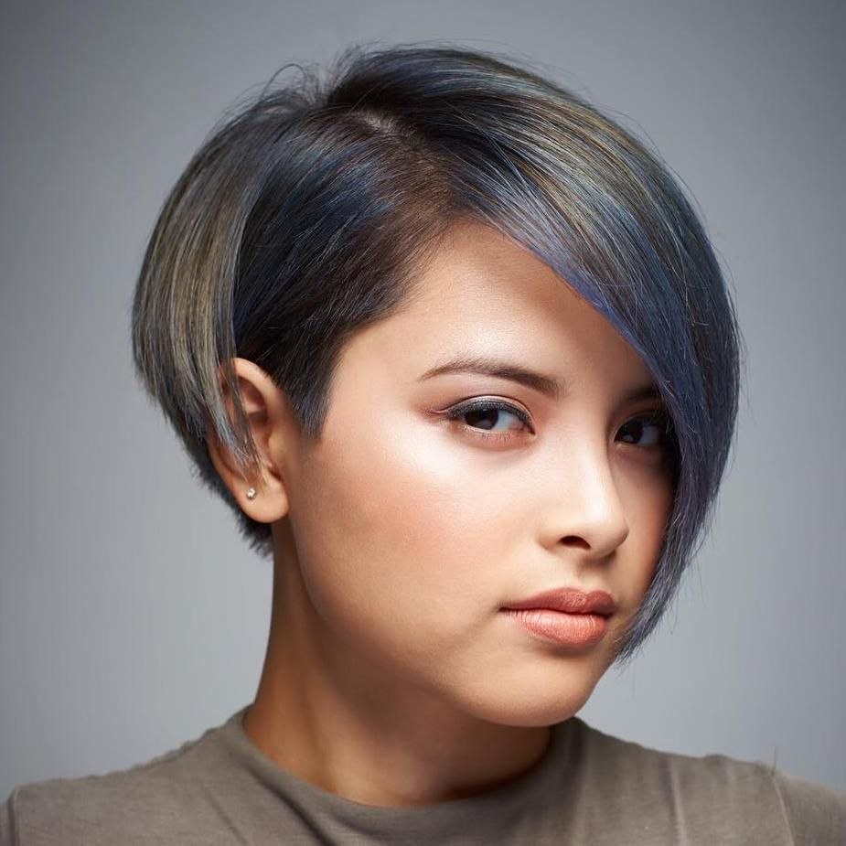 super cute looks with short hairstyles for round faces cortes