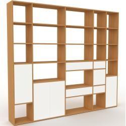 Photo of Regalsystem Eiche – Regalsystem: Schubladen in Weiß & Türen in Weiß – Hochwertige Materialien – 267