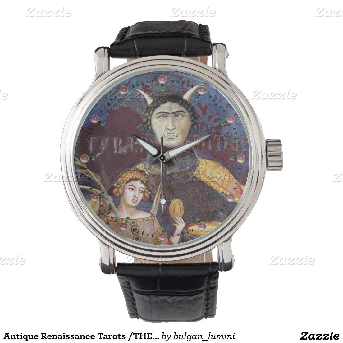 Antique Renaissance Tarots /THE DEVIL AND CONCEIT Wristwatches