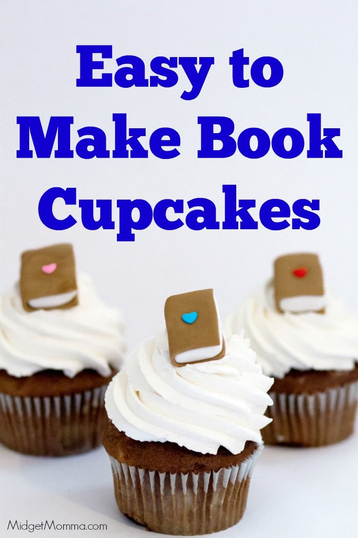 Book Cupcake Homemade Cupcakes With Fondant Books Best