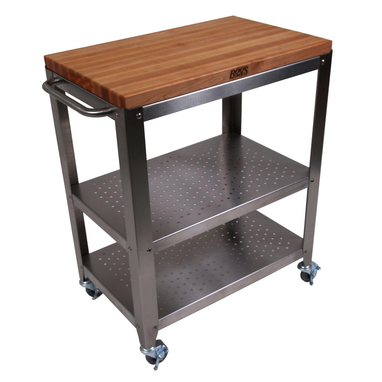 Cucina Americana Kitchen Cart with Butcher Block Top   home ...