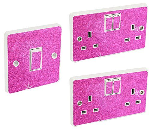 Hot Pink Glitter Wall Lighting Socket Switch Cover Sticke Https Www Amazon Co Uk Dp B072bmcktt Ref Cm Sw R Pi Dp Glitter Wall Switch Covers Kids Stickers