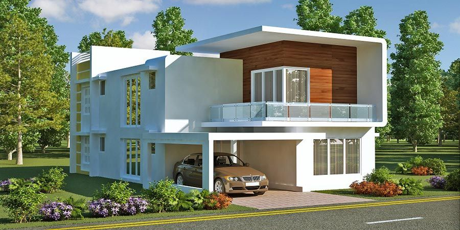 Front Elevation Duplex House 24 House Elevation Plot Size