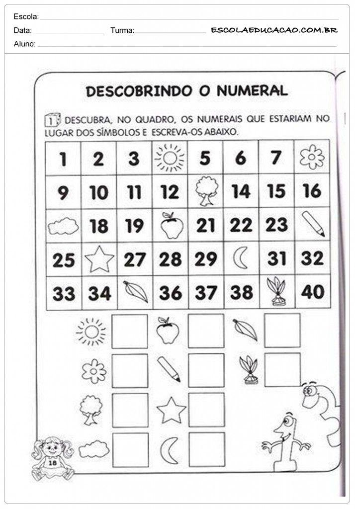Top Atividades de Matemática 1º ano - Descobrindo o numeral | Pedro  KL98